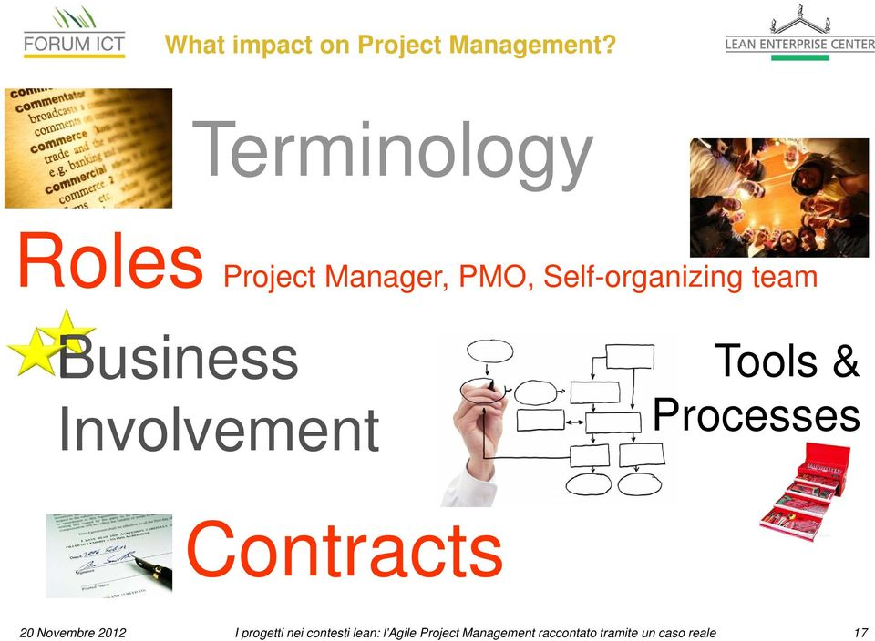 Business Involvement Tools & Processes Contracts 20 Novembre