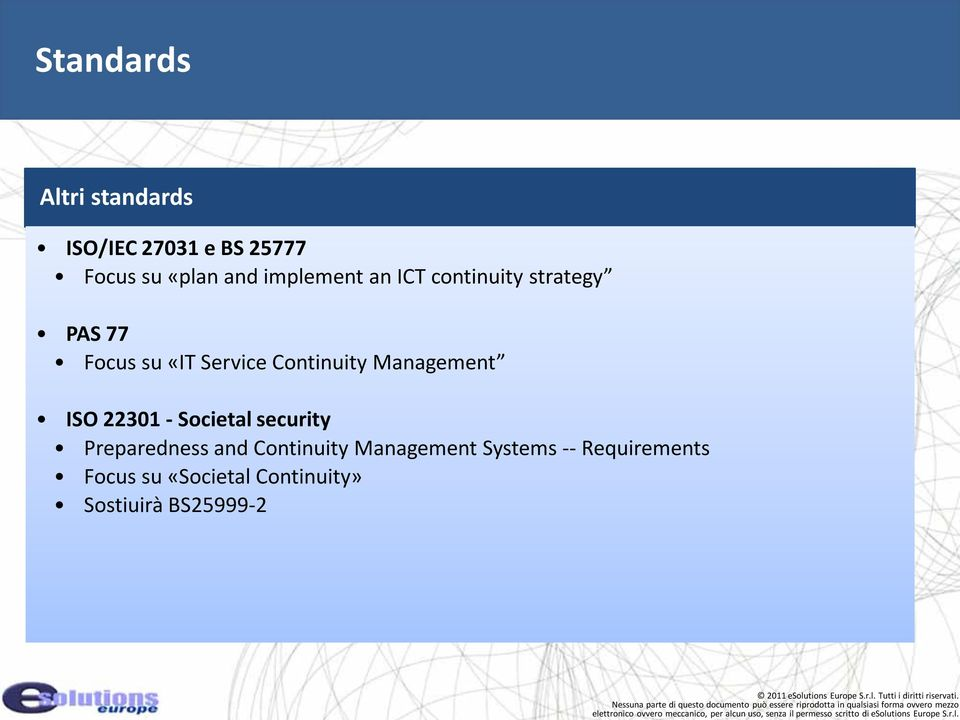 Continuity Management ISO 22301 Societal security Preparedness and