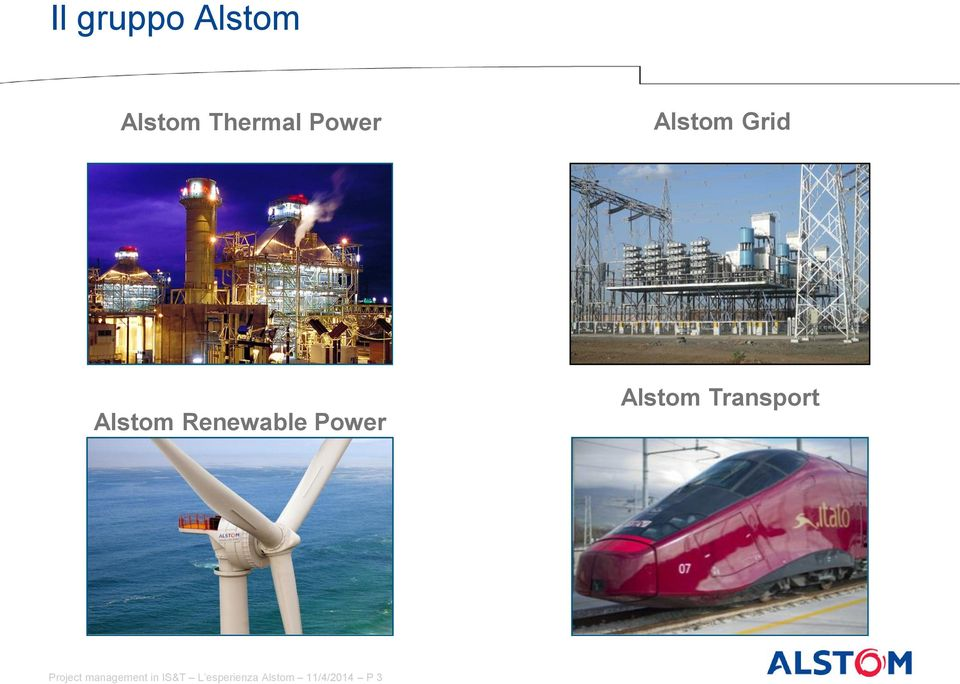 Alstom Transport Project management