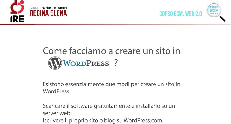 WordPress: Scaricare il software gratuitamente e