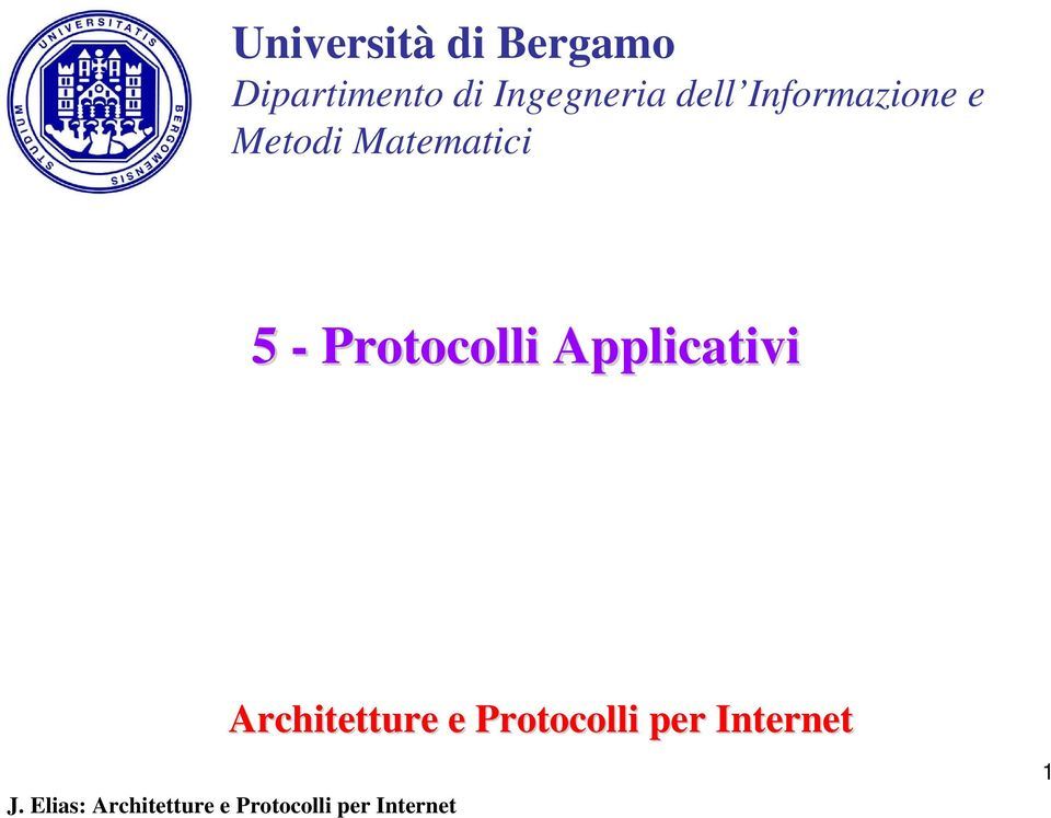 Matematici 5 - Protocolli Applicativi