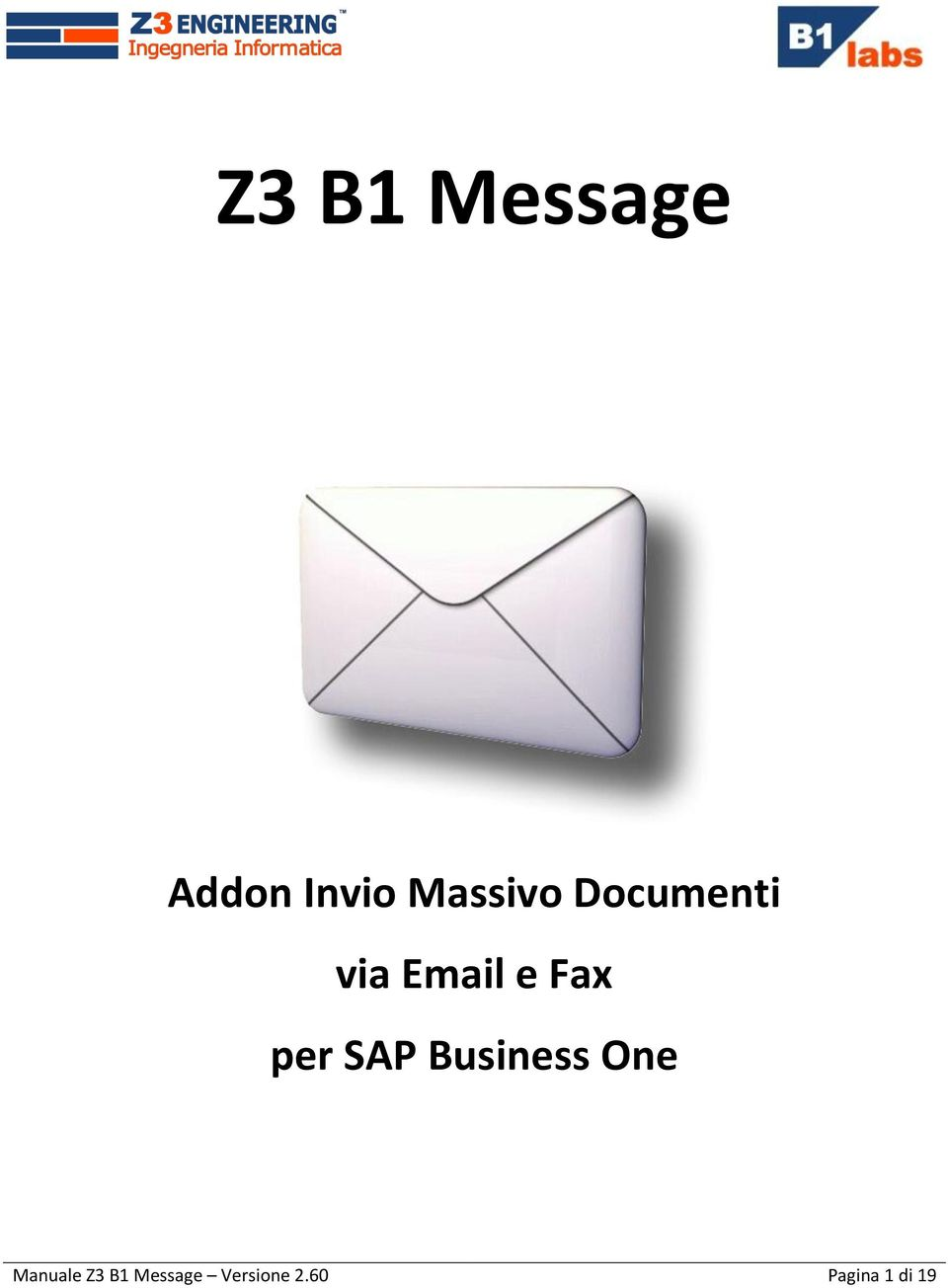 Fax per SAP Business One Manuale