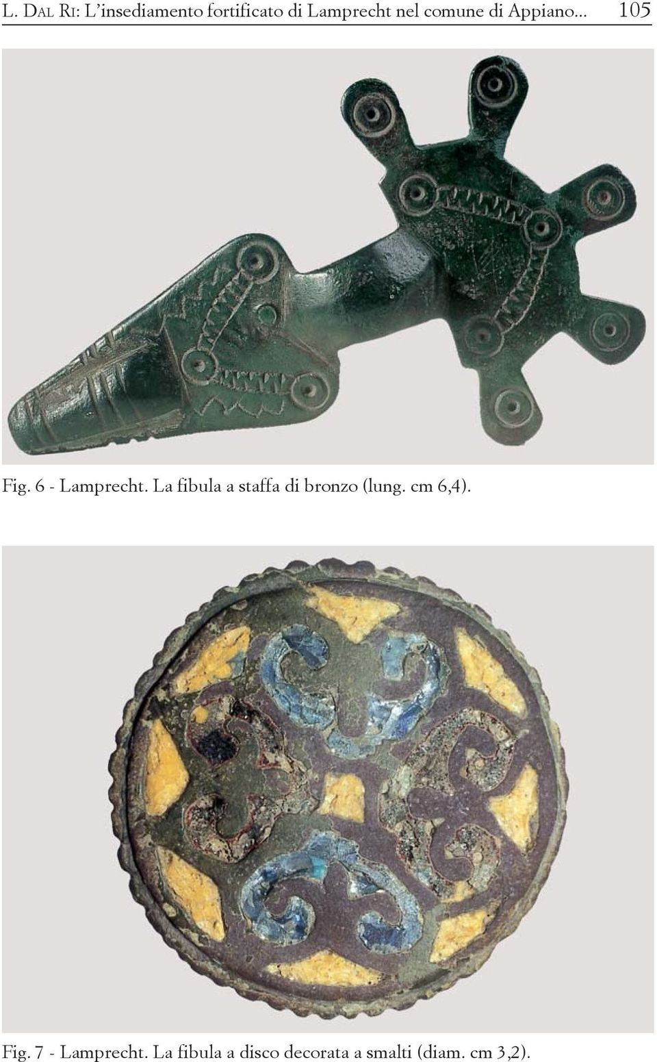 La fibula a staffa di bronzo (lung. cm 6,4). Fig.