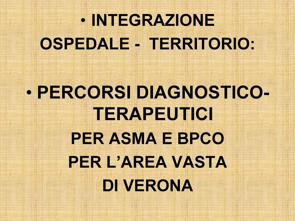 DIAGNOSTICO- TERAPEUTICI