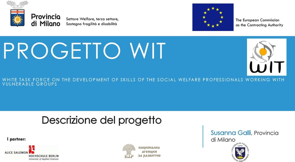 DEVELOPMENT OF SKILLS OF THE SOCIAL WELFARE PROFESSIONALS WORKING WITH