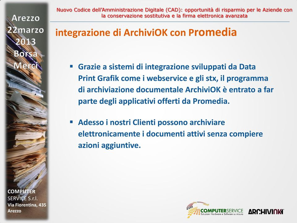 ArchiviOK è entrato a far parte degli applicativi offerti da Promedia.