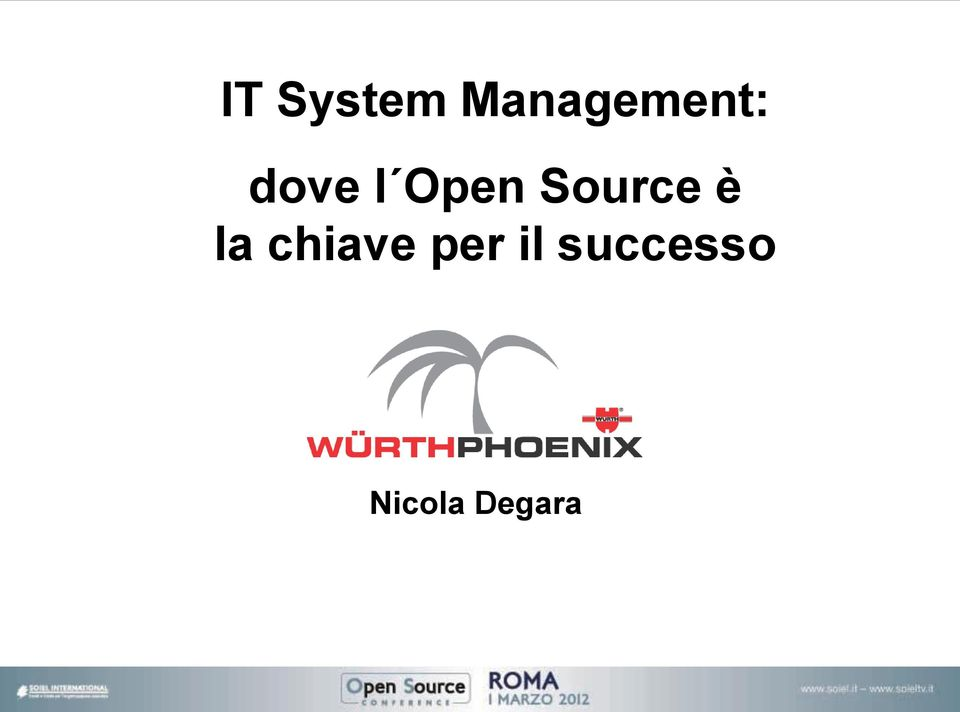 Open Source è la