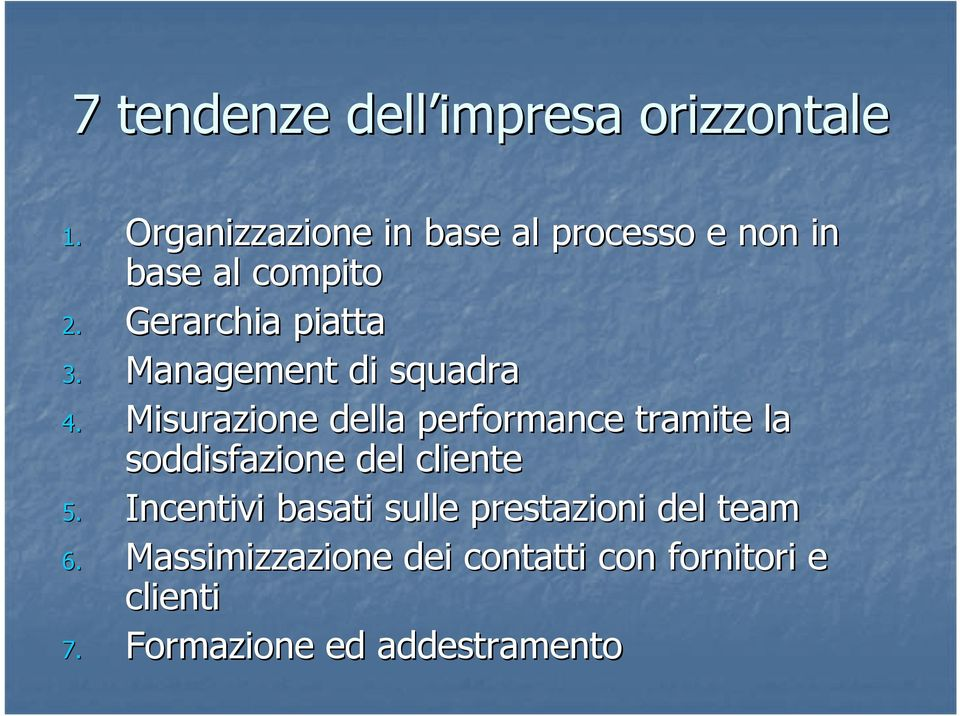 Management di squadra 4.