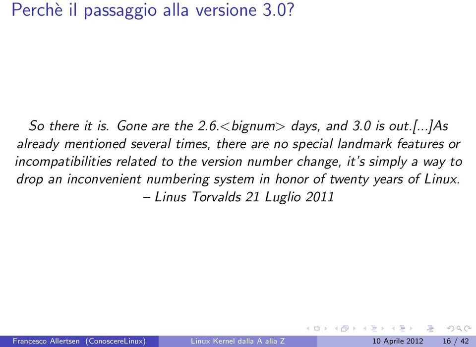 the version number change, it s simply a way to drop an inconvenient numbering system in honor of twenty years