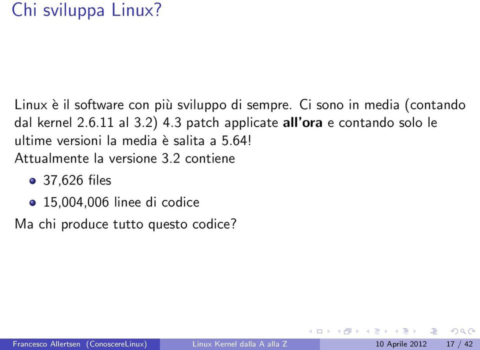 3 patch applicate all ora e contando solo le ultime versioni la media è salita a 5.64!