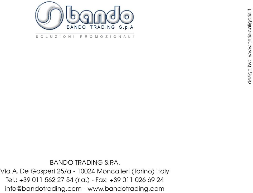neris-caligaris.it BANDO TRADING S.P.A. Via A.