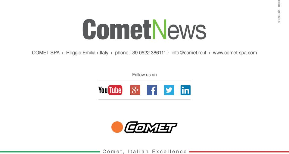 3111 info@comet.re.it www.comet-spa.