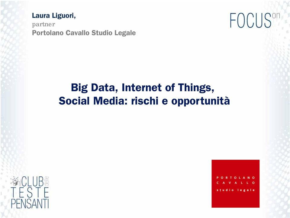 Legale Big Data, Internet of