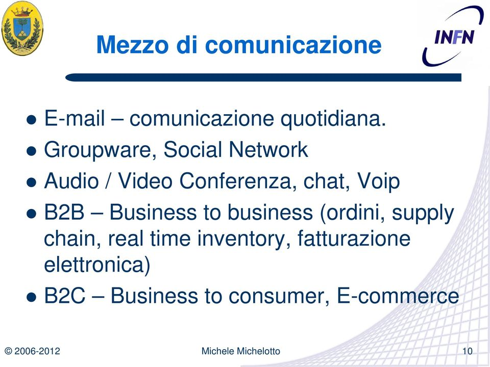 B2B Business to business (ordini, supply chain, real time