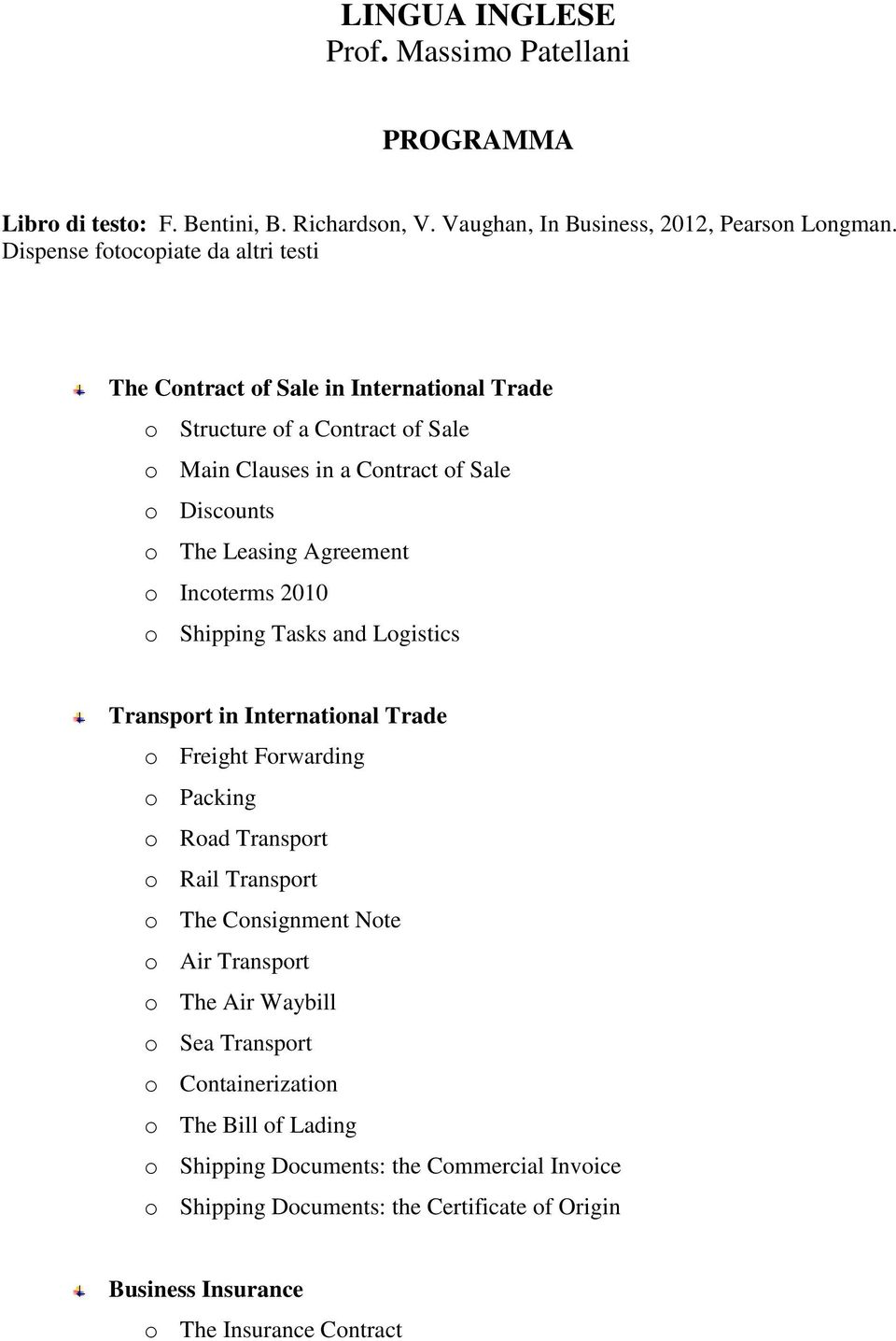 shipping documents in international trade pdf