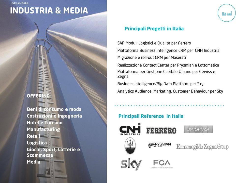 Gewiss e Zegna Business Intelligence/Big Data Platform per Sky Analytics Audience, Marketing, Customer Behaviour per Sky Beni di consumo e moda