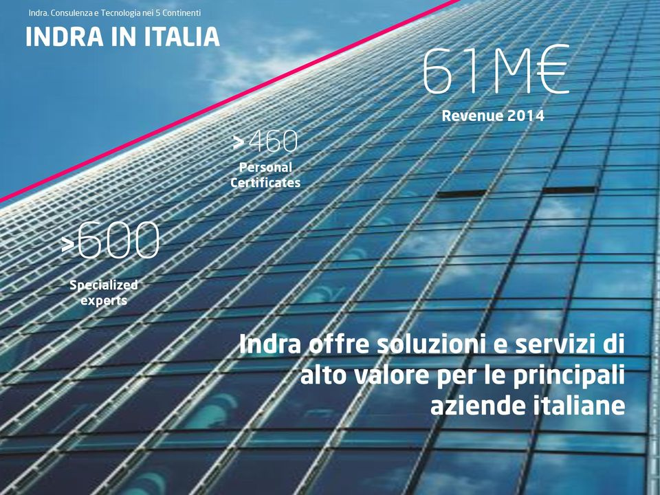 ITALIA > 600 > 460 Personal Certificates 61M Revenue