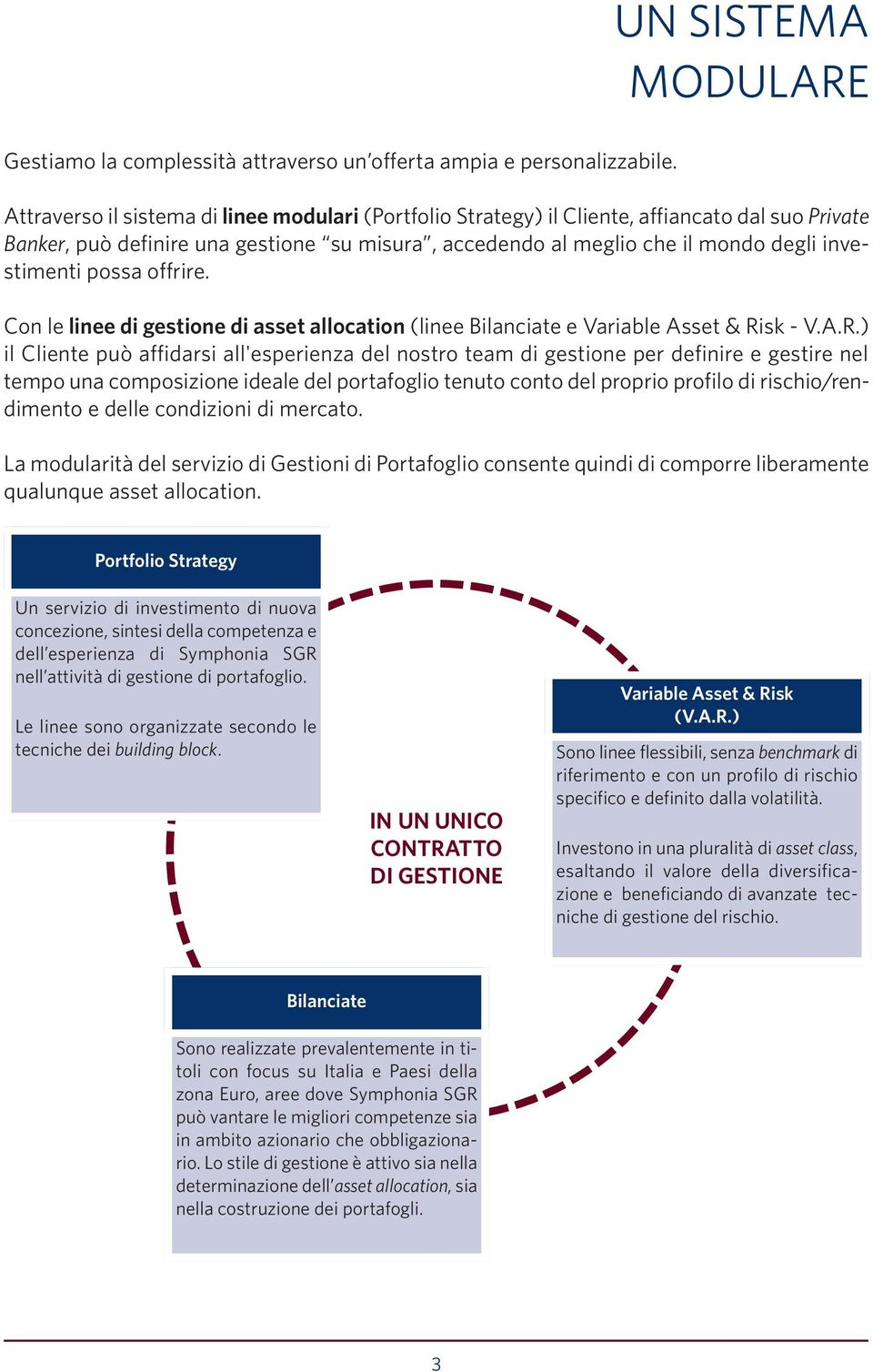 possa offrire. Con le linee di gestione di asset allocation (linee Bilanciate e Variable Asset & Ri