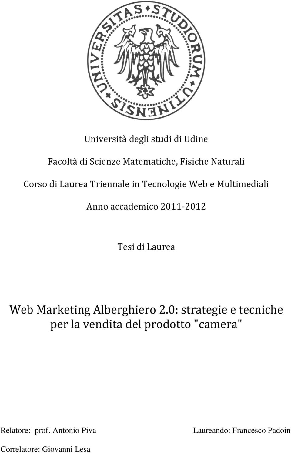 Laurea Web Marketing Alberghiero 2.