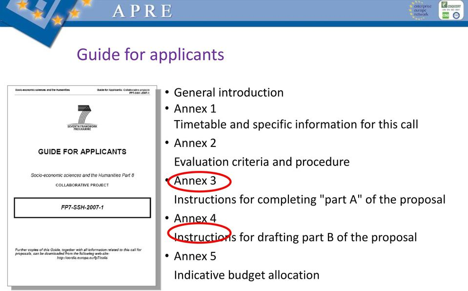 "3 Instructions for completing ""part A"" of the proposal Annex 4"
