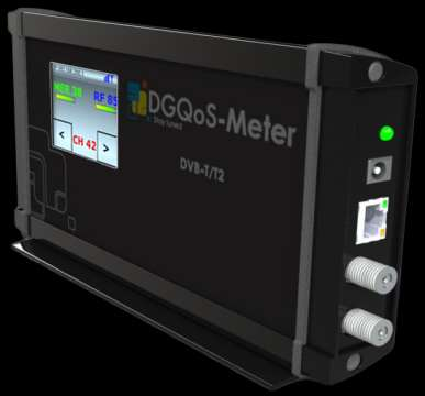 DQM120 (DVB-T/T2) Level MER BER pre and post Viterbi PER CELL ID TPS monitoring Echo