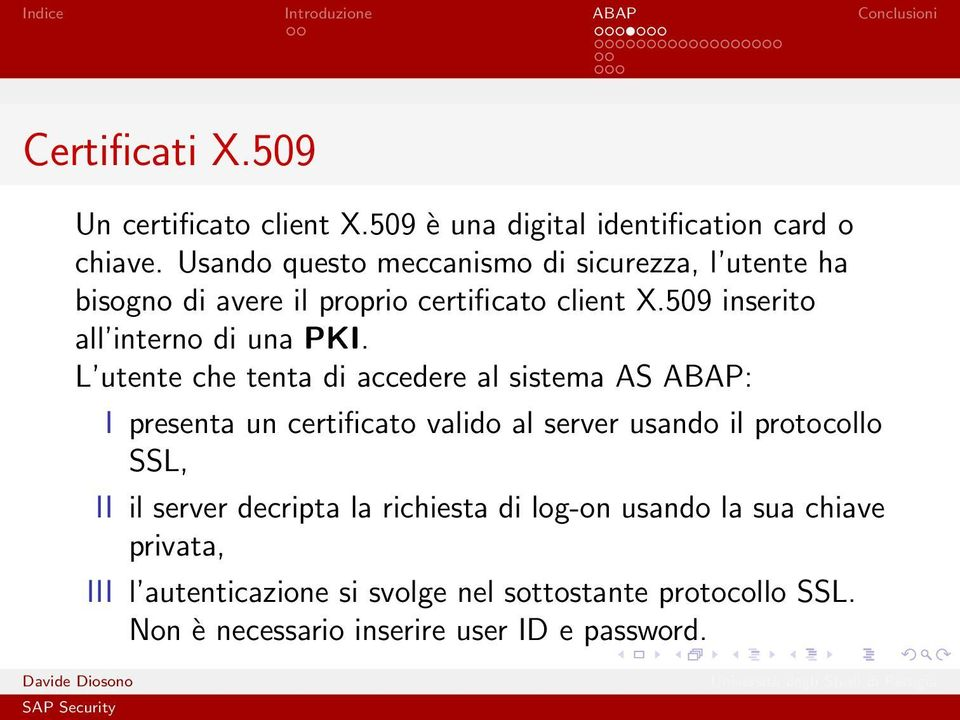 509 inserito all interno di una PKI.