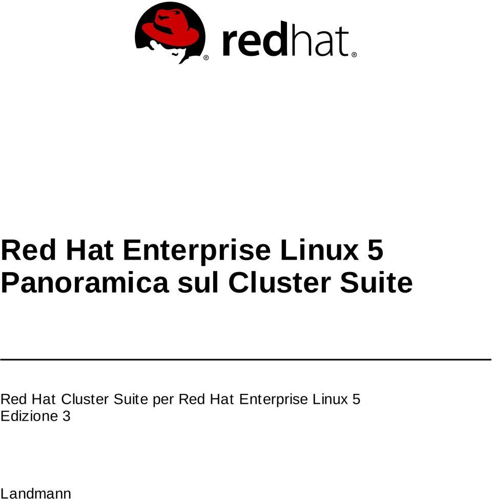 Red Hat Cluster Suite per