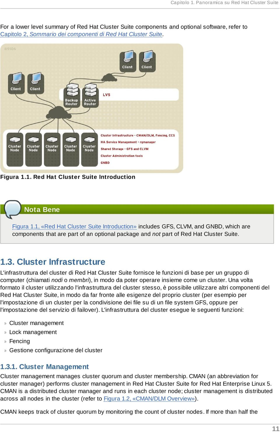 Figura 1.1. Red Hat Cluster Suite Introduction Nota Bene Figura 1.