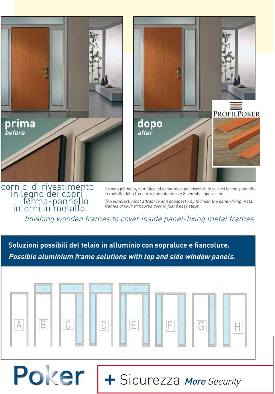 The simplest, most attractive and cheapest way to finish the panel-fixing metal frames of your armoured door in just 8 easy steps.