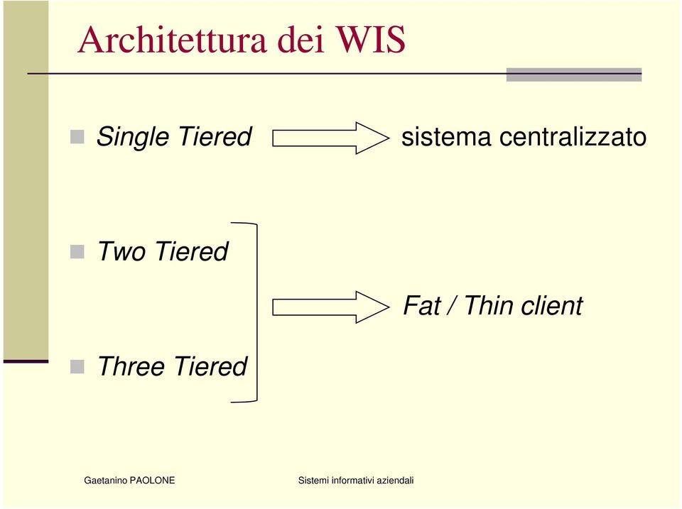 centralizzato Two Tiered