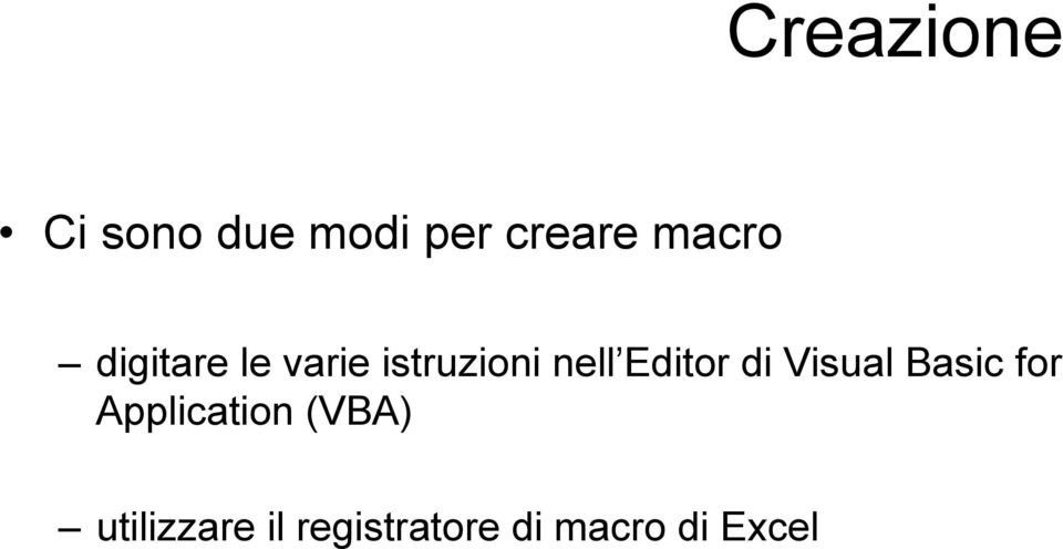 Editor di Visual Basic for Application