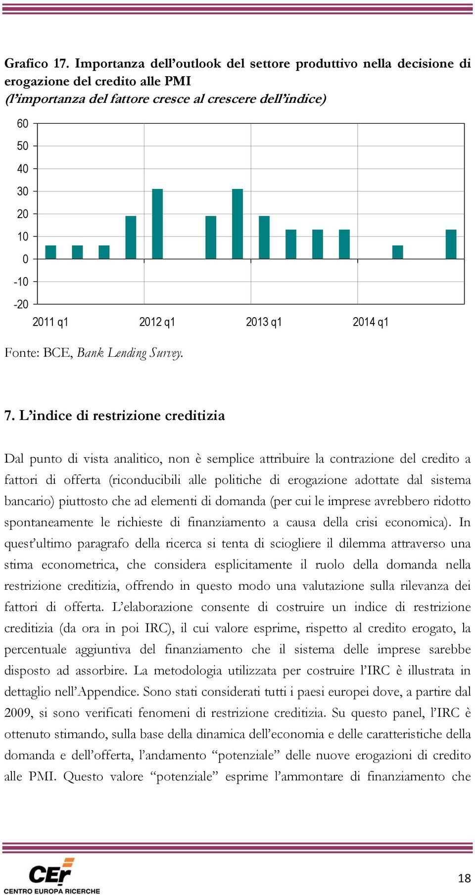 2013 q1 2014 q1 Fonte: BCE, Bank Lending Survey. 7.
