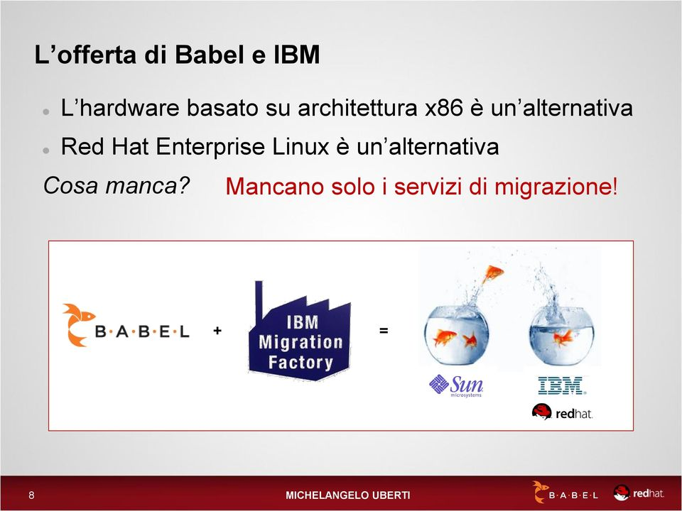 Enterprise Linux è un alternativa Cosa manca?