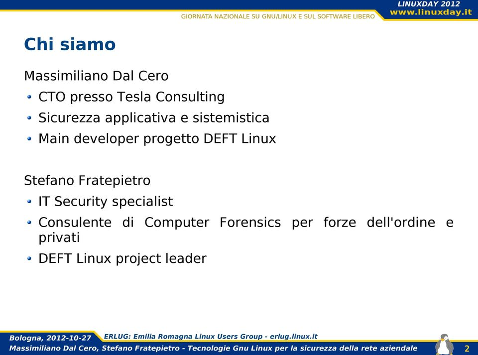 Linux Stefano Fratepietro IT Security specialist Consulente di