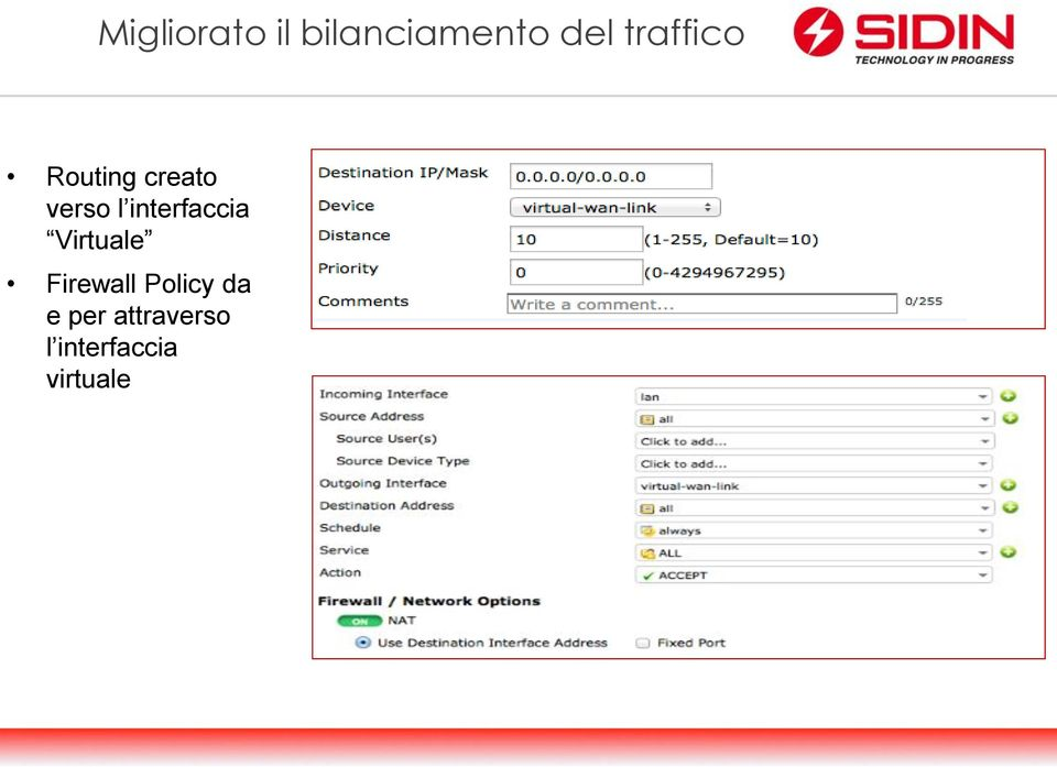 interfaccia Virtuale Firewall