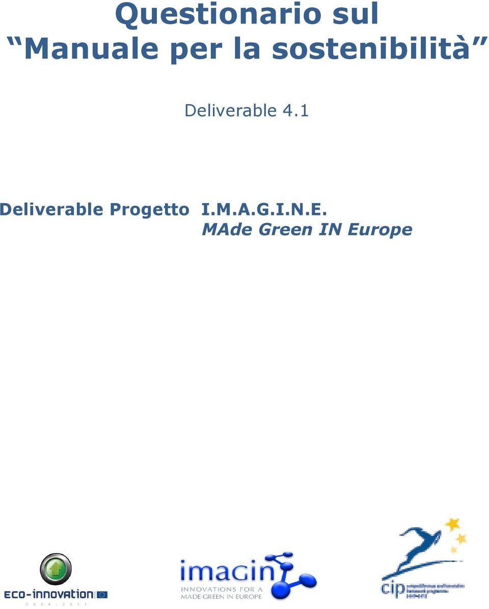 4.1 Deliverable Progetto I.M.