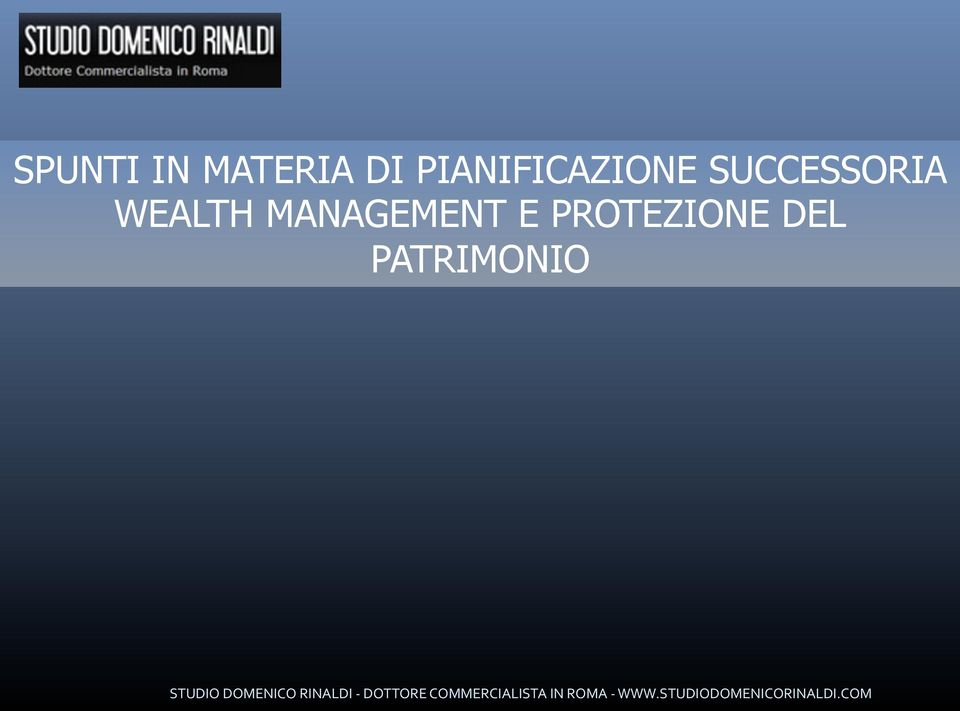 SUCCESSORIA WEALTH