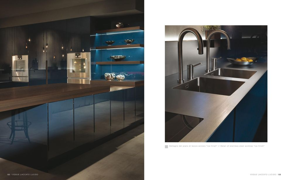 stainless steel worktop ice finish