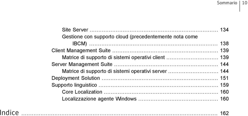 .. 139 Server Management Suite... 144 Matrice di supporto di sistemi operativi server.