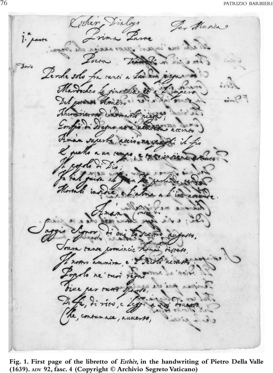 the handwriting of Pietro Della Valle