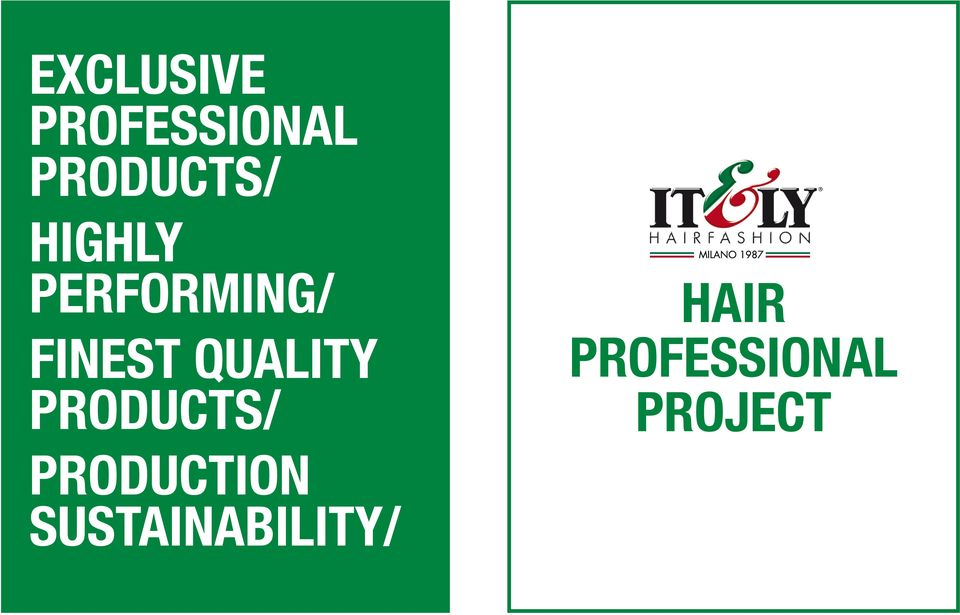 quality products/ Hair