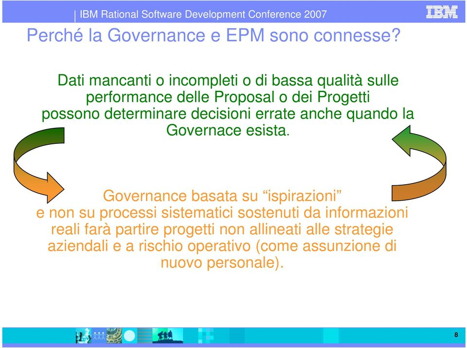 determinare decisioni errate anche quando la Governace esista.