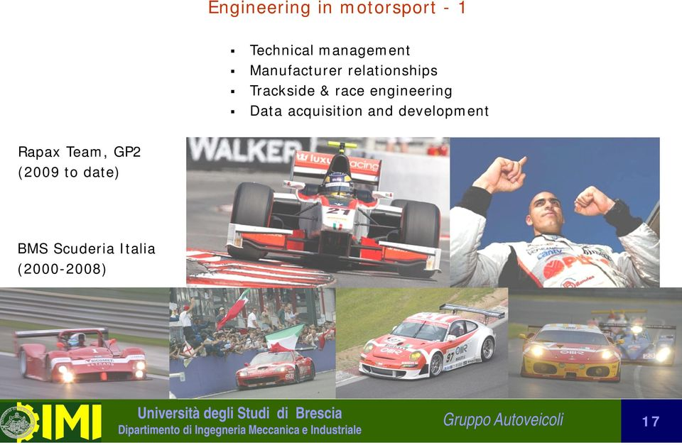 Data acquisition and development Rapax Team, GP2 (2009
