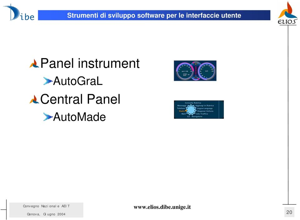 interfaccie utente Panel