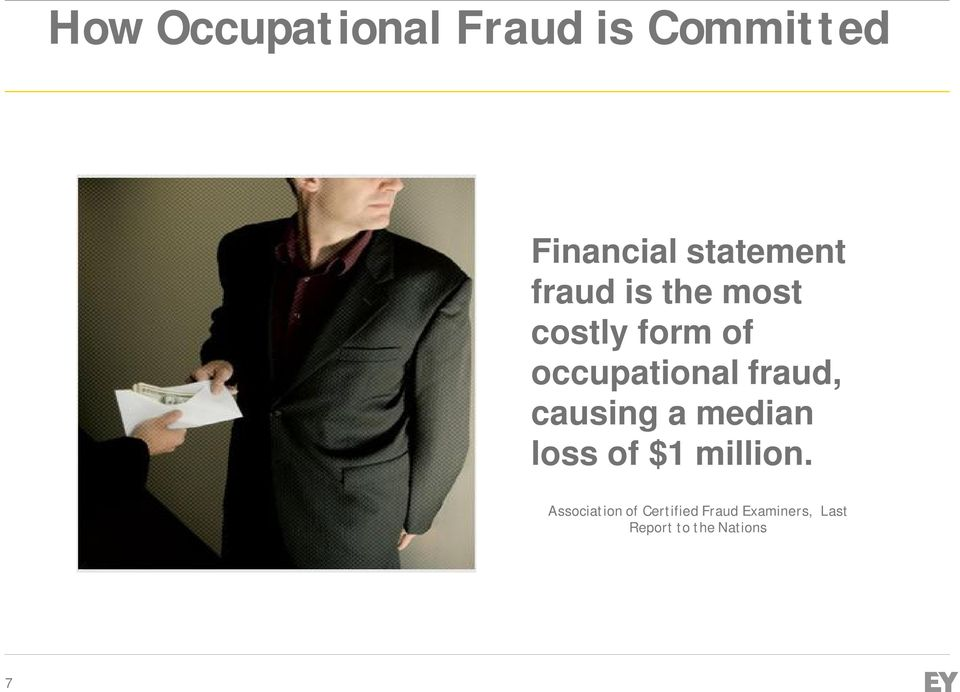 occupational fraud, causing a median loss of $1