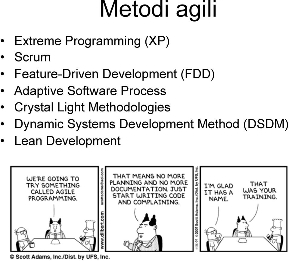 Software Process Crystal Light Methodologies