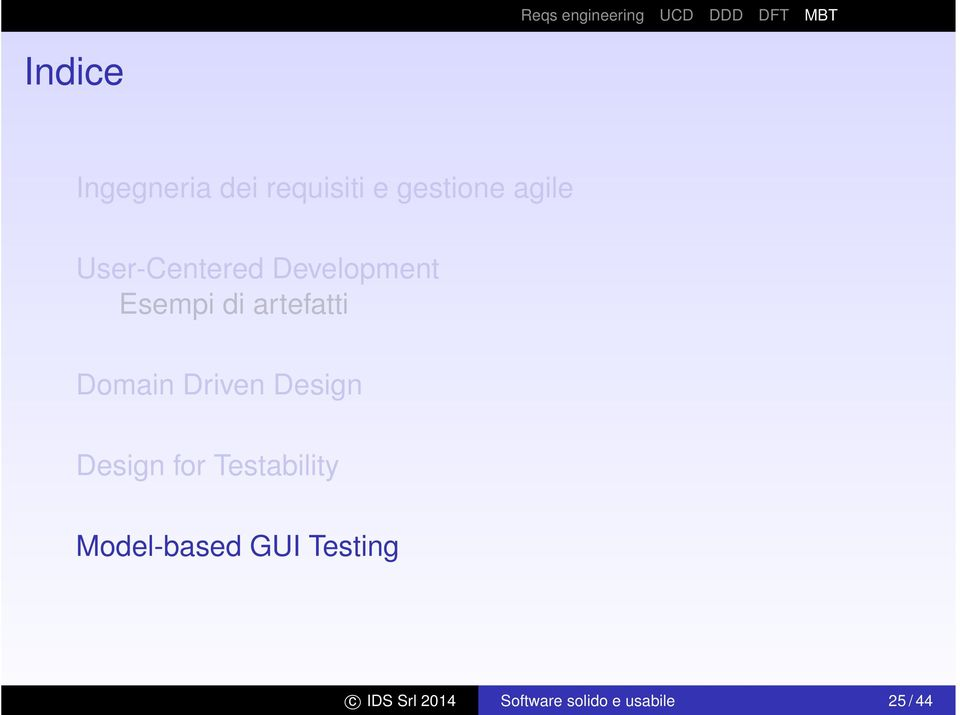 Driven Design Design for Testability Model-based GUI