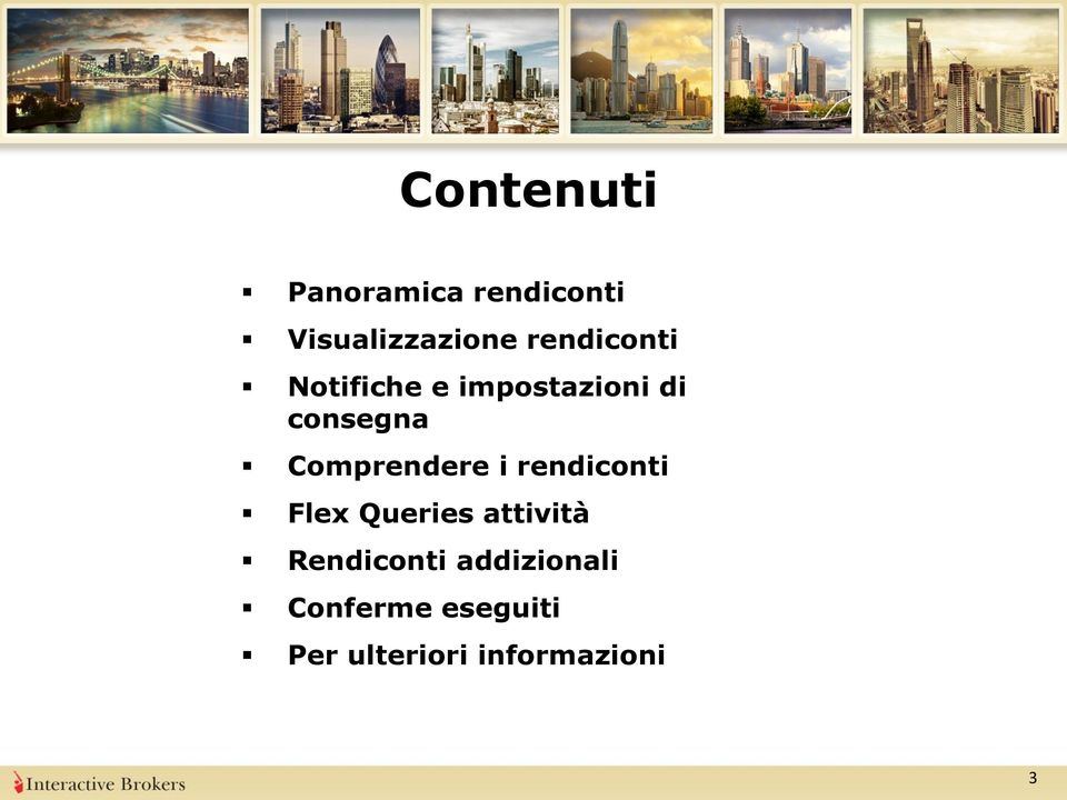 Comprendere i rendiconti Flex Queries attività