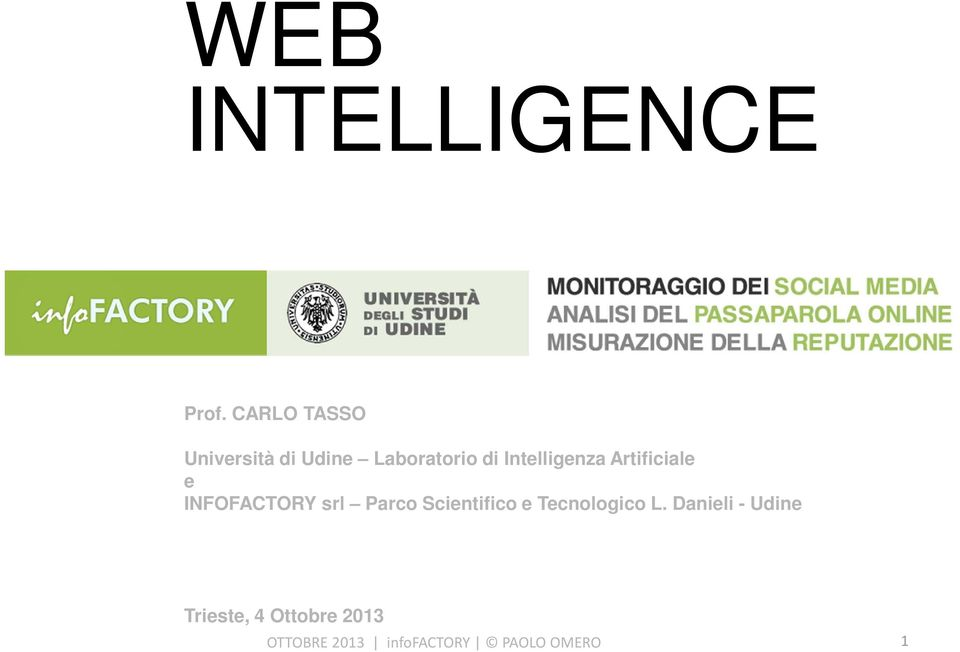 Intelligenza Artificiale e INFOFACTORY srl Parco