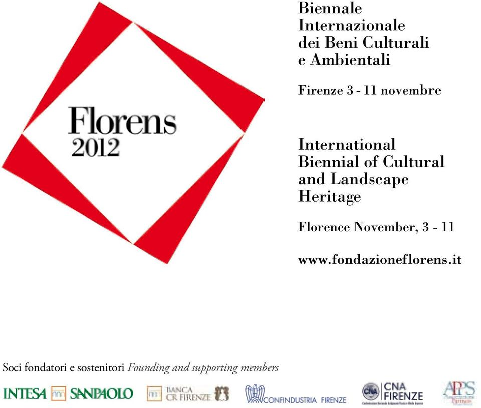 Biennial of Cultural and Landscape Heritage Florence